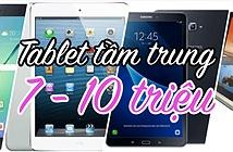 So sánh cấu hình 4 tablet tầm trung từ Apple, Samsung và Lenovo, giá từ 7 đến 10 triệu