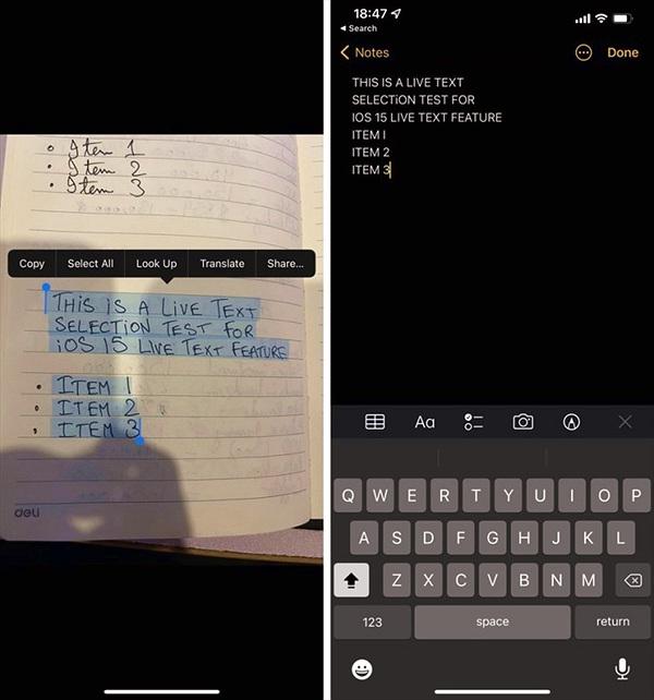 Cách dùng Live Text trên iOS 15 để sao chép văn bản trong ảnh