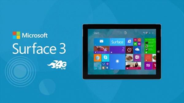 Đã có thể mua Surface 3 4G LTE, AT&T bán trước, bản unlock sẽ sớm có mặt trên Amazon