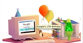 Google kỷ niệm 17 năm thành lập