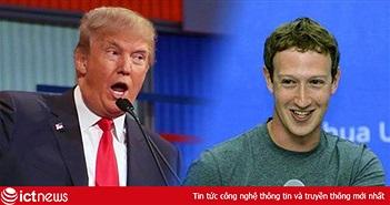 """Zuckerberg và Tổng thống Trump """"lời qua tiếng lại"""" vì Facebook"""