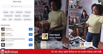 Facebook sắp cho lồng nhạc nền khi chia sẻ ảnh và video