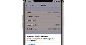 """iPhone 11 sẽ cảnh báo người dùng khi bị thay màn hình """"lô"""""""