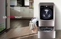 LG mô phỏng thao tác giặt tay trên máy giặt 2 lồng vừa ra mắt tại Việt Nam