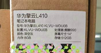 Rò rỉ thông số kỹ thuật Laptop chạy Kirin đầu tiên của Huawei