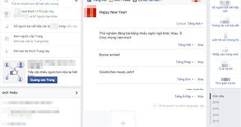 Facebook Page cho thử nghiệm đăng bài đa ngôn ngữ tại Việt Nam