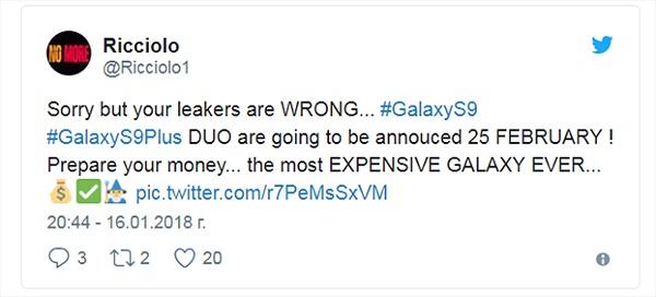 Samsung Galaxy S9/S9+ sẽ là bộ đôi Galaxy S đắt nhất từ trước đến nay