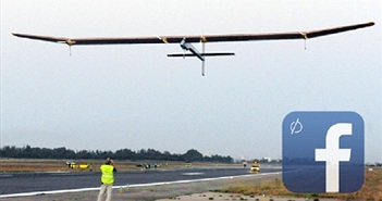 Facebook thử nghiệm thành công phủ sóng Internet từ máy bay không người lái