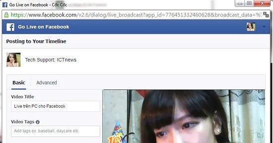 Hướng dẫn phát Facebook Live trực tiếp từ máy tính