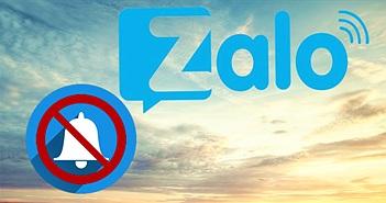 Hướng dẫn tắt thông báo trên Zalo hiệu quả
