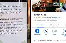 Cửa hàng Burger King bị dìm sao hội đồng vì kỳ thị tài xế Grab, Go Viet