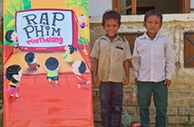 LG xuyên Việt tổ chiếu phim 3D chiếu phim cho trẻ em nghèo
