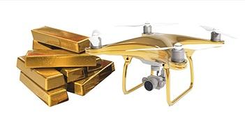 DJI Phantom 4 Gold Edition: Mạ vàng 24K xa xỉ, phần cứng không đổi, giá $24000