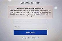 Facebook gặp sự cố nghiêm trọng: Không thể đăng nhập, gửi ảnh