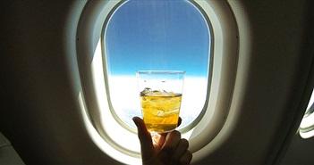 Đây là lý do bạn đừng bao giờ uống nước đá trên máy bay