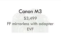 Canon sẽ ra mắt dòng máy compact full-frame M3 trong năm 2018?