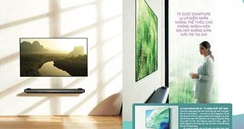 LG OLED Signature W: Tivi cao cấp ấn tượng nhất năm 2017