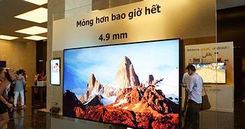 Sony Việt Nam ra mắt TV 4K Android mỏng hơn iPhone 6