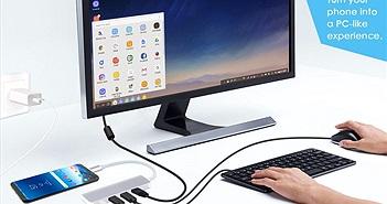 Note 9 biến thành máy tính chỉ với một dây nối