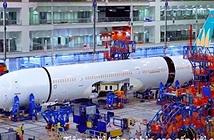 Video: Cận cảnh quá trình lắp ráp, phun sơn máy bay Boeing 787-10
