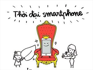 """Bộ tranh vui """"thời đại smartphone lên ngôi"""""""