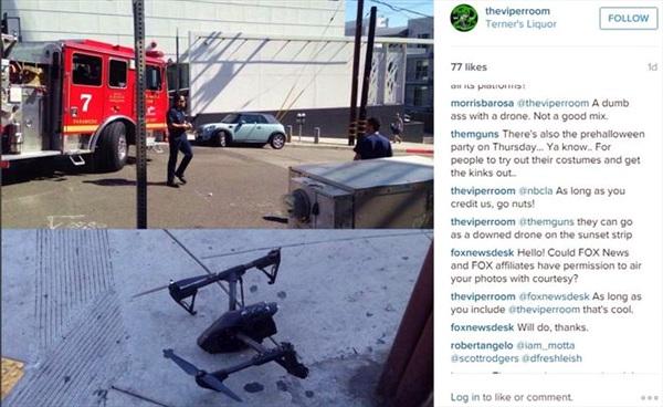 Truy lùng chủ chiếc drone gây mất điện tại Hollywood