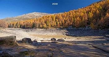 Hồ nước ở độ cao gần 2.000 mét trên dãy Alps biến mất