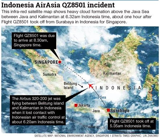 Sự thật ít biết về vùng biển Java nơi máy bay Air Asia mất tích