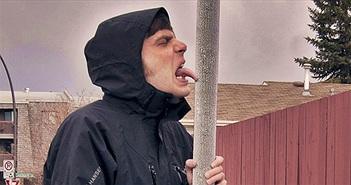 Lý do lưỡi dính vào kim loại khi trời lạnh