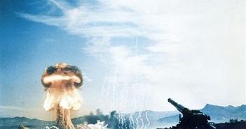 """""""Rợn tóc gáy"""" siêu pháo bắn đạn hạt nhân của Mỹ"""