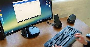 """Samsung Dex Station: Thiết bị """"hô biến"""" Galaxy S8 thành PC"""