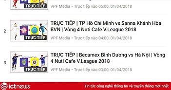 Lịch tường thuật trực tiếp V.League 2018 vòng 4 cuối tuần này