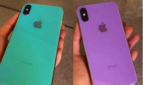 iPhone X Plus bản màu tím, màu xanh khiến nhiều người bất ngờ