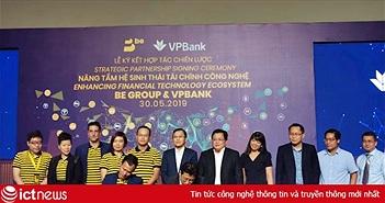 Ứng dụng gọi xe be kết hợp VPBank, sắp ra dịch vụ thanh toán tại cửa hàng, nạp tiền điện thoại, thẻ thanh toán