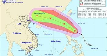 Bão Nida tăng cấp nhanh chóng trước khi vào Biển Đông