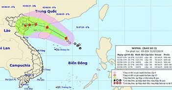 Áp thấp nhiệt đới đã mạnh lên thành bão số 3 - cơn bão WIPHA