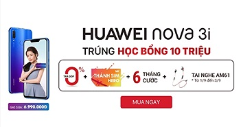 Mua Huawei Nova 3i tại FPT Shop, nhận ngay Thánh SIM Vietnamobile